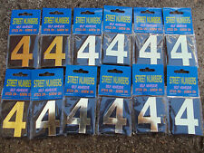 """House Number, Letterbox Number  """"4"""" bulk pack doz (12)- Self Adhesive free post"""