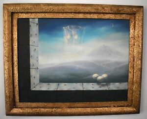 Beautiful René Magritte. framed. oil on canvas. signed
