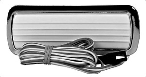 60-72 White Dome Lamp Assembly w/Wire & Chrome Classic GMC Truck Chevrolet Chevy