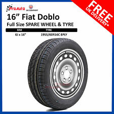 """FIAT DOBLO 2010 - 2017 FULL SIZE STEEL SPARE WHEEL 16""""  AND TYRE 195/60R16C"""
