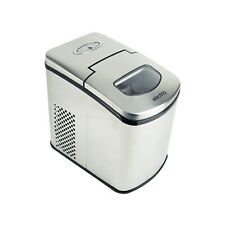 electriQ Auto Ice Machine Portable Counter Top Ball Cube Maker - Stainless Steel