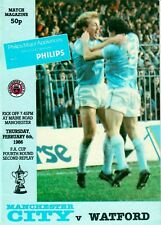 Manchester City v Watford (FA Cup fourth round, second replay) 1985-86