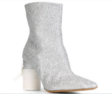 SUPPER GORGEOUS!! Maison Martin Margiela WOMEN SILVER GLITTER BOOTS EU 40 US 10