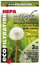 Johnny Vac 440H HEPA central vacuum bags (3-pk) - Replaces Nutone 391 & Hoover