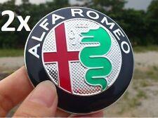 2x New Alfa Romeo GIULIA 74mm BADGE Emblem ALU - 147 156 GT 159 Giulietta Mito