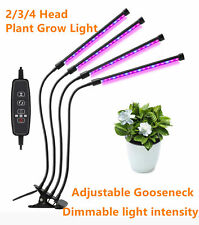 2/3/4 Head LED Growing Lamp Indoor Timer Plant Flower Grow Light Clip USB Cable