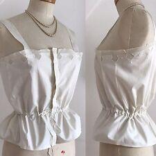 Vintage 20s Art Deco Camisole Linen & Silk Rare Beautiful Paris Couture 14-16