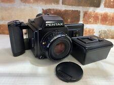 [ EXC + 3] Pentax 645 Mittelformat Kamera Mit / Smc A 75mm F2.8 Linse +3 Film