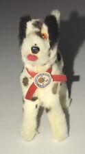New listing Vintage Dog West Germany Original Fur Toys Miniature Brown Spots Tag Dalmatian