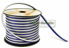 100 ft 10 Gauge Blue and White Speaker Zip Wire Cable Car Home Audio Quality