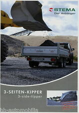 Prospekt Stema Anhänger 3-Seiten-Kipper PKW 9 09 2009 Broschüre brochure trailer
