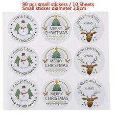 90X Merry Christmas Seal Stickers Snowman Labels DIY Xmas Gift Box Stickers