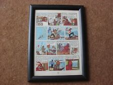 "Tintin - Red Sea Sharks - ""Raft of the Medusa"" - mounted & framed page"