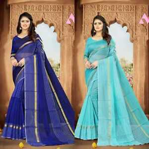 Saree Sari Indian Pakistani Bollywood Women Party Wear New Fancy Saree Blouse