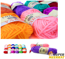 12 Pk Yarn Skeins Thread Soft Assorted Color Set Hand Knitting Crochet Knit Lot