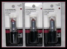 LOT OF 3 ~ NEW COVERGIRL CONTINUOUS  COLOR LIPSTICK # 420 ICED MAUVE FACTORY SLD