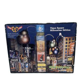 """Supertek 3D Puzzle Times Square Millennium Edition 550 Piece 12"""" High"""