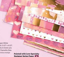 Stampin Up Retired PAINTED WITH LOVE Specialty Designer Series Paper 2 Sheets