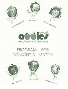 1978 New York Apples game day programs lot of 8, World Team Tennis