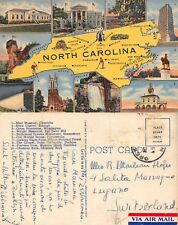 USA North Carolina 10 VIEWS WITH MAPCharlotte Raleigh Wilmington (A-L 668)