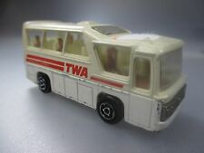 MAJORETTE: TWA mini-bus, Made in France, 1:87 Scale (gk22)