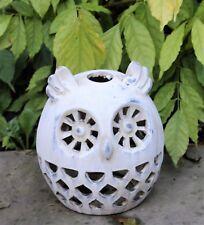 Outdoor Garden Ornament Candle Tea Light Bird Owl  Silhouette Decorative Stone