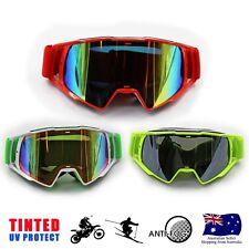 Orange/Yellow/White Frame Snow Goggles Ski Snowboarding Unisex Glasses Tinted