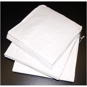 "SULPHITE WHITE PAPER BAGS 8.5""x8.5"" STRUNG (5x 1000 PIECES)"