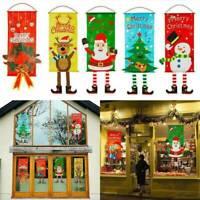 Christmas Garden Flag Santa Claus Banner Flag Door Window Hanging Xmas Decor