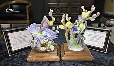 """ROYAL WORCESTER """"BLUE TIT and PUSSY WILLOW"""" BY DOROTHY DOUGHTY 1964 #357 OF 500"""