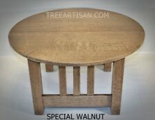 Mission Craftsman Quarter Sawn Oak Round Coffee Table 27 Colors