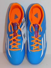 adidas F10 Trx Fg Soccer Shoes Cleats Aqua Blue / Orange Kids Youth Size 5 New