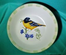 """Lenox Summer Greetings Oriole Bird All Purpose Cereal Serving Bowl  6 7/8"""" used"""