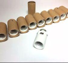10 PORCELAIN CANDELABRA HIGH HEAT Glass Insulator Light Sockets Lamp Parts E12