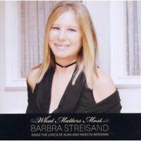 BARBRA STREISAND - WHAT MATTERS MOST 2011 US CD * NEW * + 3 BONUS TRACKS