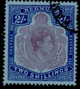BERMUDA GVI SG116f, 2s reddish purple & blue/pale blue, FINE USED. Cat £42.
