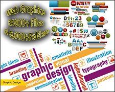 Web Graphics MegaPack 85000+ Files & 8,000+Folders For Graphics Design CD