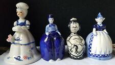 set of 4 porcelain bells