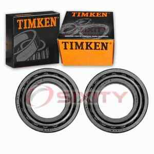 2 pc Timken Rear Outer Wheel Bearing and Race Sets for 1999-2017 Ford E-350 au