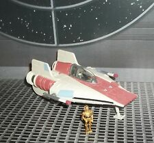 STAR WARS ACTION FLEET SERIES RED A-WING STARFIGHTER W PILOT & C-3PO MINI FIGS