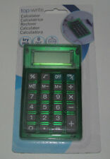 Calculatrice de Poche 7x10x1 cm Verte 8 Chiffres Calculator NEUF