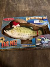 Big Mouth Billy Bass Sings For The Holidays Gemmy 1999 Santa Jingle Bells