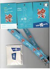 LONDON 2012 OLYMPICS PIN BADGE VISA PARTY+LAYNARD COLL SET ORIGINAL MINT RARE