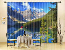 Blue Sky Snow Mountain 3D Curtain Blockout Photo Printing Curtains Drape Fabric