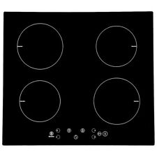 Panana New 60cm Built-in 4 Zone Touch Control Black Boost Induction Hob
