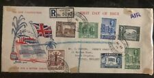 1945 Kingston Jamaica First Day Cover FDC to  Surrey England New Constitution
