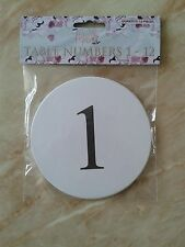 PACK OF 1-12 WHITE TABLE NUMBERS CARDS PARTY FOR WEDDING TABLE SETTING