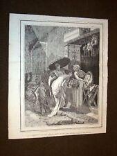 Venditore di Maschere a Pompei Quadro di Cesare Mariani