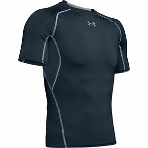 New Under Armour HeatGear Sonic Compression Fit T-Shirt Men Sizes Navy Blue NWT