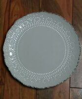 "Pfaltzgraff Chateau 11"" Dinner Plate Ivory Cream Replacement Dish Farmhouse EUC"